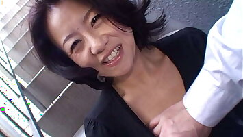 japanese mature amateur - real orgasm and creampie