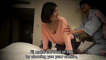 Subtitled Japanese hotel knead oral sex nanpa in HD